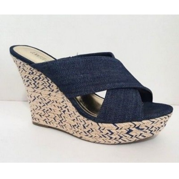 824722a946b Jennifer Lopez Denim Wedges